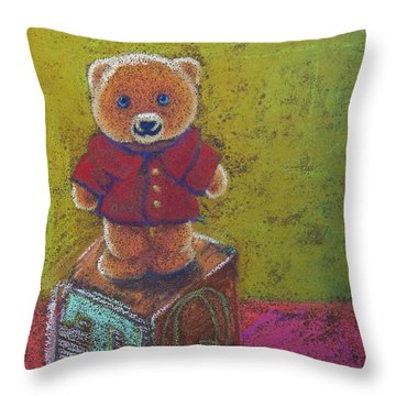 It's A Bear's World Throw Pillow by Tracy L Teeter