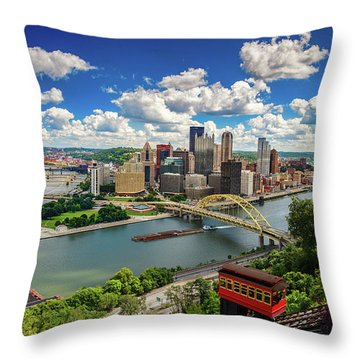 Throw Pillow featuring the photograph It's A Beautiful Day In The Neighborhood by Emmanuel Panagiotakis