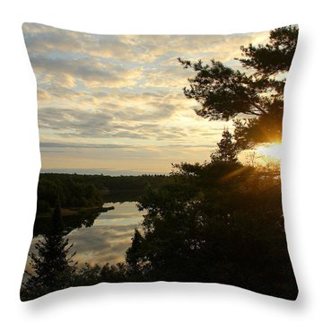 It's A Beautiful Morning Throw Pillow by Debbie Oppermann