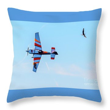 It's A Bird And A Plane, Red Bull Air Show, Rovinj, Croatia Throw Pillow