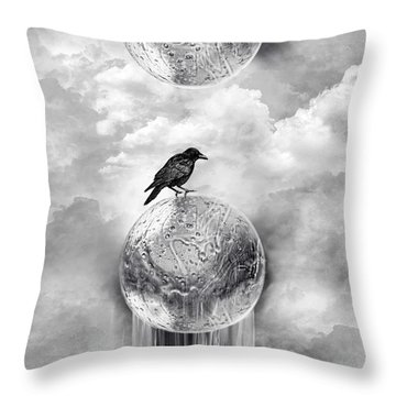 It's A Crow's World Throw Pillow