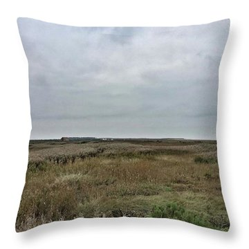 It's A Grey Day In North Norfolk Today Throw Pillow