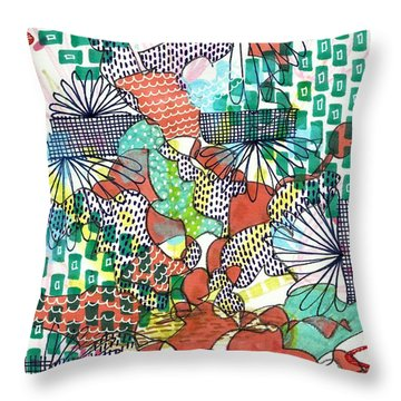 It's A Jungle Out There Throw Pillow by Lisa Noneman