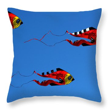 It's A Kite Kind Of Day Throw Pillow by Clayton Bruster