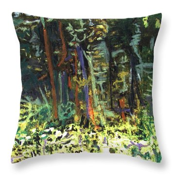 It's A Jungle Out There Throw Pillow by Betty Pieper