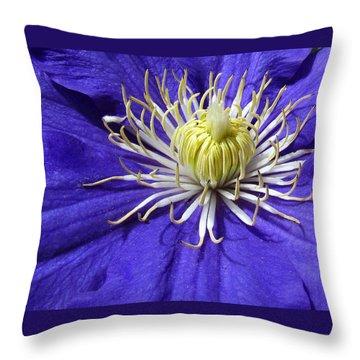 It's A Purple World Throw Pillow
