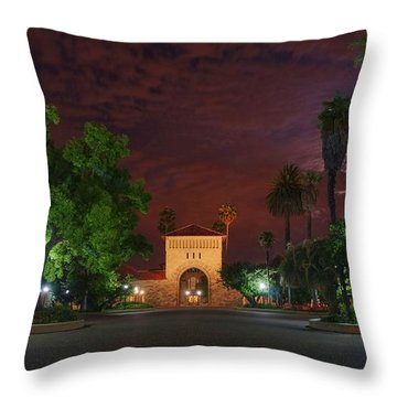 It's A Red Sky Night, Breathe It In Throw Pillow