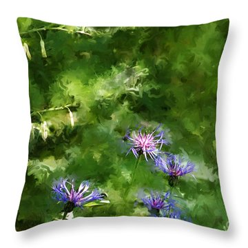 It's A Still Life I Want To Color Throw Pillow by David Lane