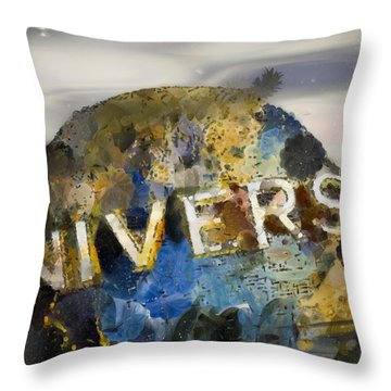 It's A Universal Kind Of Day Throw Pillow by Trish Tritz