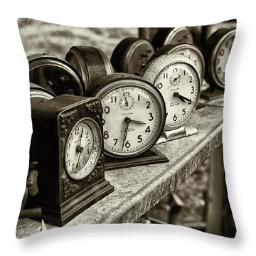 It's About Time Throw Pillow by John Hoey