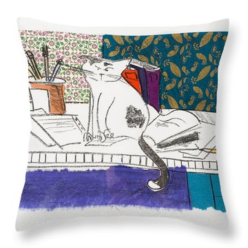 Its All About Me Throw Pillow by Leela Payne