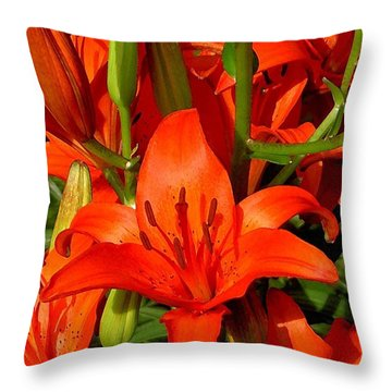 It's All About Red Throw Pillow