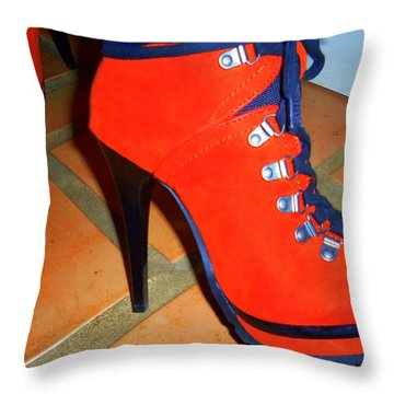 Its All About The Shoes Throw Pillow