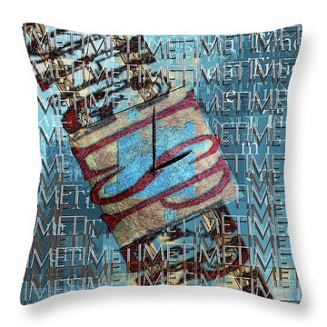 Its All About Time Throw Pillow