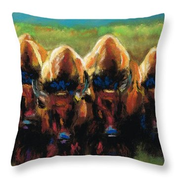 Its All Bull Throw Pillow by Frances Marino