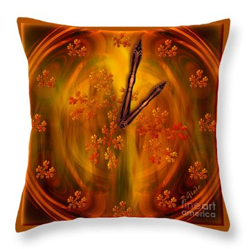 It's Autumn Time Throw Pillow by Giada Rossi