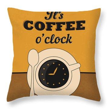It's Coffee O'clock Throw Pillow