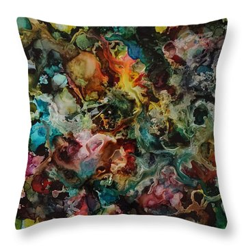It's Complicated Throw Pillow by Alika Kumar