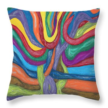 Throw Pillow featuring the painting Its Complicated by Ania M Milo
