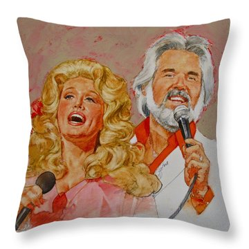 Its Country - 8  Dolly Parton Kenny Rogers Throw Pillow