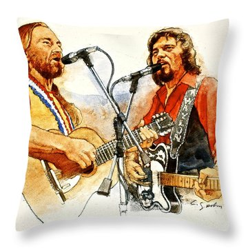 Its Country - 7  Waylon Jennings Willie Nelson Throw Pillow