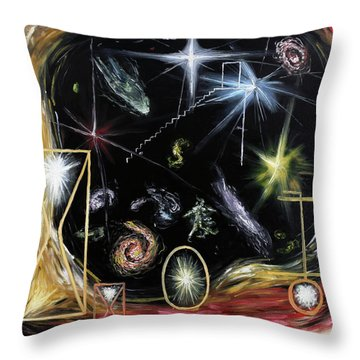 Throw Pillow featuring the painting It's Full Of Stars  by Ryan Demaree