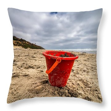 Its Good You Went To The Beach You Look A Little Pail Throw Pillow