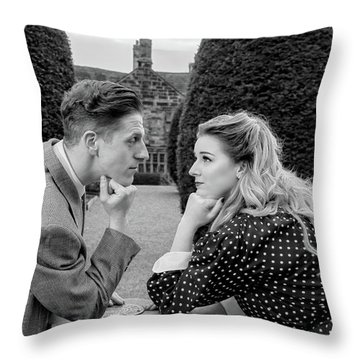 It's In The Eyes Bw Throw Pillow