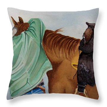 Its Just Us Throw Pillow by Jimmy Smith