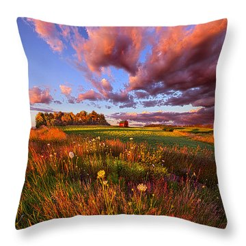 It's Like Going To Heaven With Your Feet Still On The Ground Throw Pillow