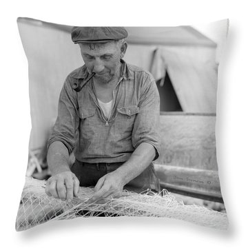 Throw Pillow featuring the photograph It's My Job by John Stephens