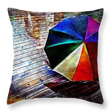 It's Raining Again Throw Pillow by Randi Grace Nilsberg