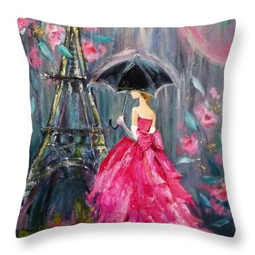 It's Raining In #california ! This Throw Pillow