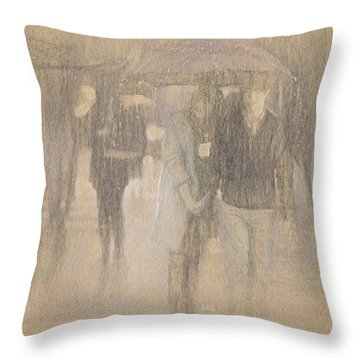 It's Raining In Georgia Throw Pillow by Angela A Stanton