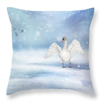 It's Snowing Throw Pillow