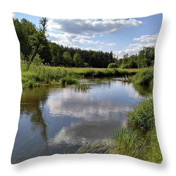 It's So Calming Here In Odrzywol Throw Pillow by Arletta Cwalina