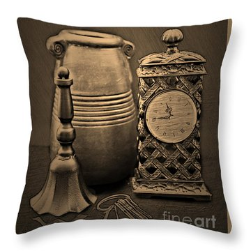 It's Time For... Throw Pillow by Sherry Hallemeier