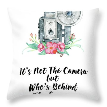 Throw Pillow featuring the digital art It's Who Is Behind The Camera by Colleen Taylor