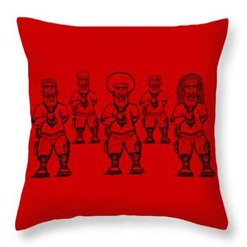 Iuic Soldier 1 W/outline Throw Pillow