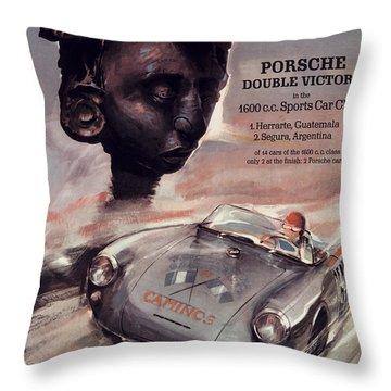 Iv Carrera Panamericana Porsche Poster Throw Pillow