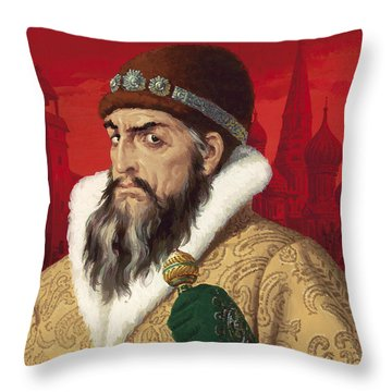 Ivan The Terrible Throw Pillow by English School
