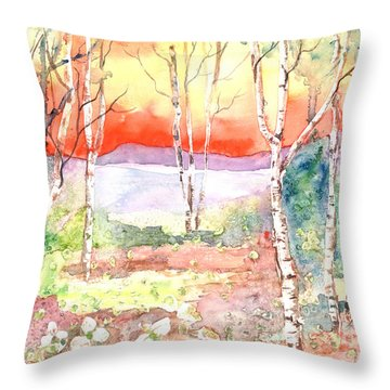 Throw Pillow featuring the painting Ivan's Eve by Renate Nadi Wesley
