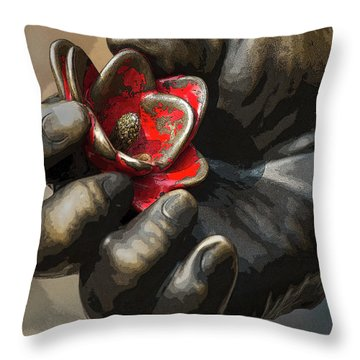 Ivan's Hand Throw Pillow