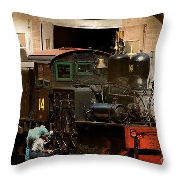 I've Been Working On The Railroad Throw Pillow by RC DeWinter