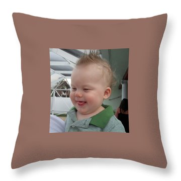 I've Got A Secret Throw Pillow by Val Oconnor