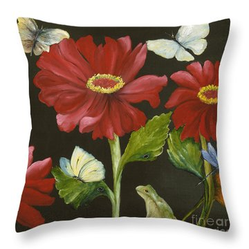 I've Got My Eye On You Throw Pillow by Carol Sweetwood