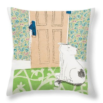 Ive Got Places To Go People To See Throw Pillow by Leela Payne