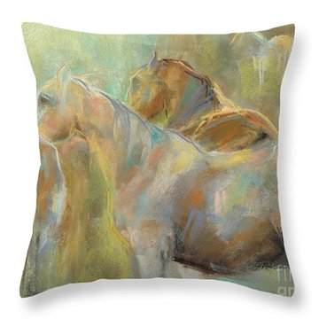 Throw Pillow featuring the painting I've Got This by Frances Marino