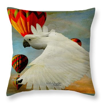 Throw Pillow featuring the photograph I've Got Wings by Chris Armytage