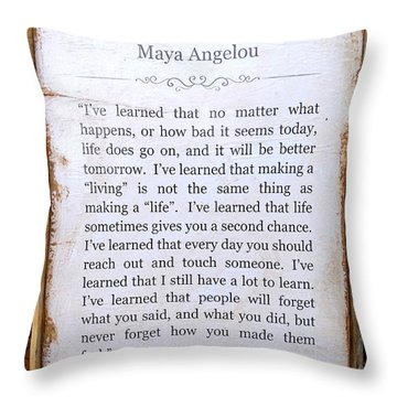 I've Learned Throw Pillow by Ed Weidman